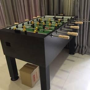Pool table, foosball table, arcade game, dartboard