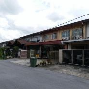 Double storey Terrace House, WingLi garden at Batu Lintang KUCHING