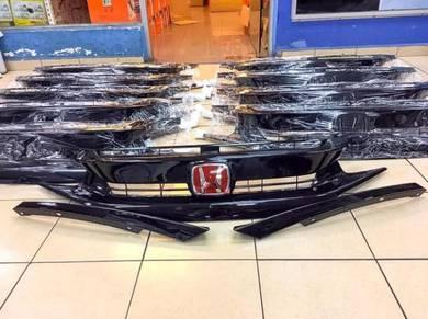 Honda Civic Fc Rs Grill Glossy Black