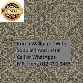 3D Korea Wall Paper with Installation 56tg