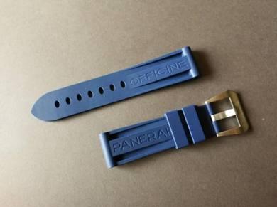 22mm Blue Rubber Watch Strap for OFFICINEPANERAI