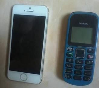 Iphone 5 dan nokia 1280