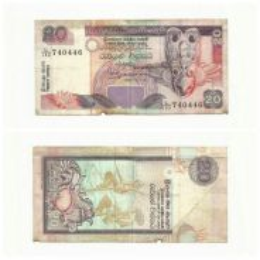 L/133 740446 Sri Lanka Banknote 20 Rupees