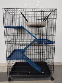 New Cat Cage BESAR - 3 Tingkat Sangkar BARU