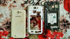 Samsung Note 2 Frame Middle & Cover Battery