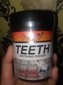 Nucifera whitenkng teeth powder