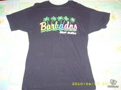 Vtg Barbados West Indies tshirt nat 9779