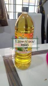 Botol plastik pet 1.5 liter bulat
