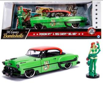 DC Bombshell - Poison Ivy & 1953 Chevy Bel Air