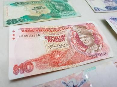 Malaysian 1980s ringgit notes