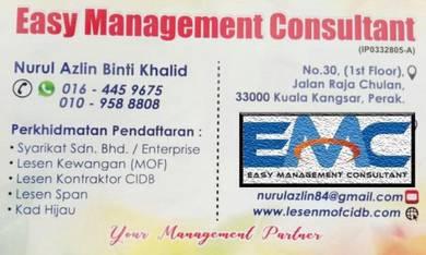 Pendaftaran lesen CIDB MOFF SPKK STB