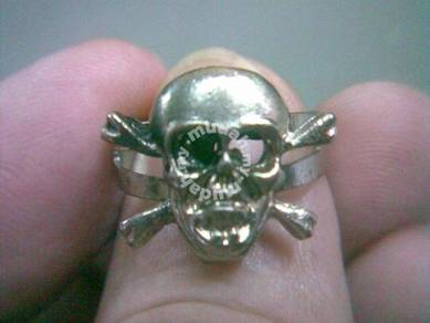 ABRSMF-S008 Cool Style Skull_08 Silver Metal Ring