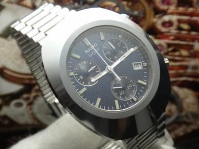 569) rado diastar chronograph quartz men watch