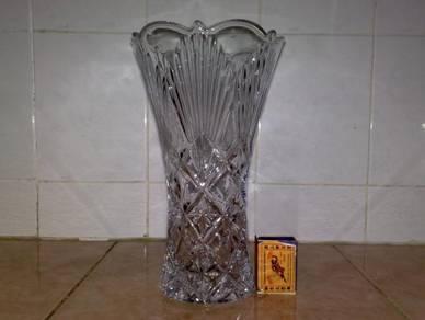 Pasu kristal crystal vase 9.5 inchi