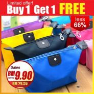 Candy Color Waterproof Nylon Cosmetic Bag