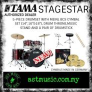 Tama Stagestar Drum Kit With Meinl Cymbals-Red