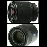 Sony 55mm f1.8 & 28-70mm kit lens