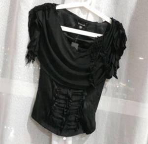 Bebe drape neck stylish top new with tag