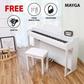 Mayga MP-17 Digital Grand Piano > White | Putih