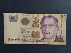 Two Dollars Singapore Commemorative Issue Yr. 2000