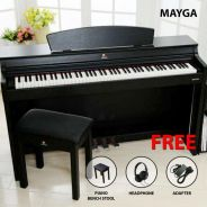 Mayga MH-27 Digital Grand Piano > Black | Hitam
