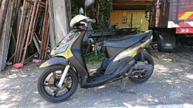Yamaha scooter ego airbrush 3 angka no plat