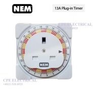 NEM TE-104 13A UK 24Hrs Plug-in Timer Time Switch