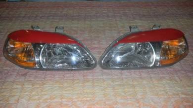 USDM Headlamp EK 96-98 with Eyelid Eyebrow