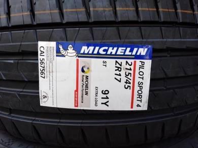 215/45/17 Michelin Pilot Sport PS4 Tyre 2020 Tayar