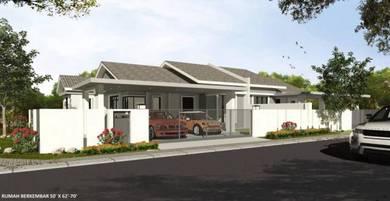 Rumah teres 1 tingkat untuk dijual (baru) Rantau