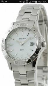 Seiko Quartz SXDA55P1 with 16 Real Diamonds