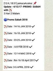 Pakej prcutian Di Sabah