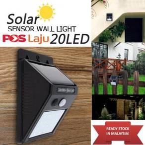 Solar 20 Leds Motion Sensor PIR wall light Outdoor