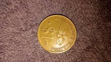 Coins/Duit syiling RM1 tahun 89,91,92 & 95