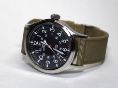 Timex watch Men's black Expedition Scout Khaki