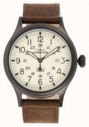 Timex watch Men's Expedition Scout Brown Leathe
