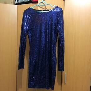 Sequin Navy Blue Dress