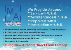 New Aircond promo direct frm factory - keramat