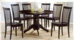 Solid Round Table Dining Set 1+6