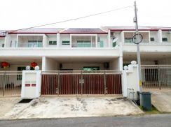 Double Storey Terrace House At Jalan Aru. (Near to Miri Airport)