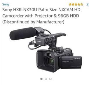 Sony video camera HXR-NX 30U