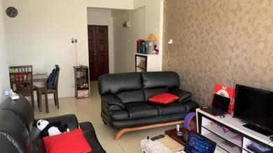 Raja uda full furnish pangsapuri seri melur low floor for rent