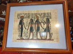 Egyptian handpainted art with artist signature SLG