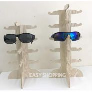 Wooden sunglass display stand 12