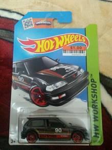 Hotwheels honda civic ef black