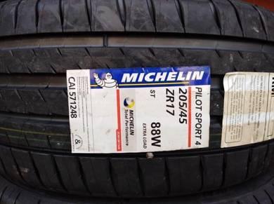205/45/17 Michelin Pilot Sport 4 Tyre 2019 Tayar