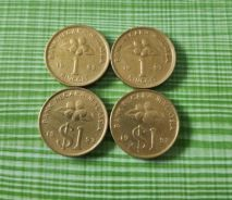 Real Malaysian 1 Ringgit Copper Coin