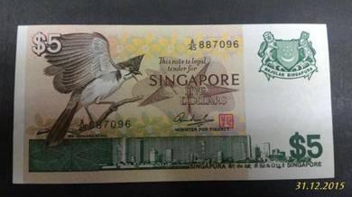 Bird Series Singapore 5 Dollar