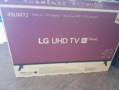 New tv 49 LG 4k UHD smart mytv LED