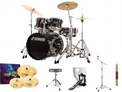 Sonor SFX-11 drum with zildjian cymbals set